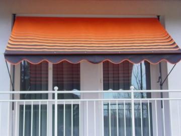 Angerer 2302/200 Klemmmarkise Dralon Nr. 200, Orange, 300 cm - 1