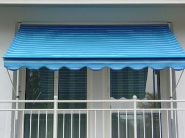 Angerer 2302/9400 Klemmmarkise Dralon Nr. 9400, Blau, 300 cm - 1