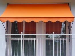 Angerer 2307/1005 Klemmmarkise PE-Gewebe Uni, Orange, 300 cm - 1