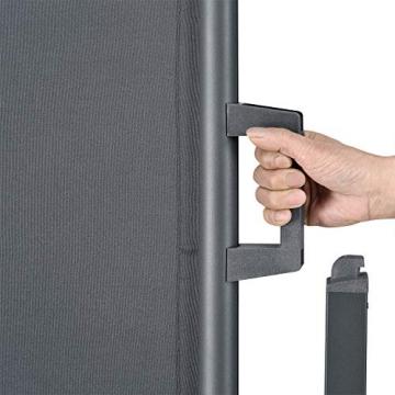 ArtLife Seitenmarkise Dubai 200 x 300 cm ausziehbar Blickdicht, Sichtschutz & Windschutz für Balkon & Terrasse, Seitenrollo mit Wandhalterung - grau - 2