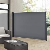 ArtLife Seitenmarkise Dubai 200 x 300 cm ausziehbar Blickdicht, Sichtschutz & Windschutz für Balkon & Terrasse, Seitenrollo mit Wandhalterung - grau - 1