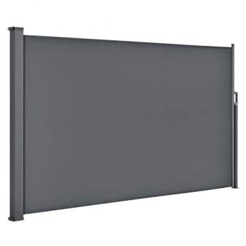 ArtLife Seitenmarkise Dubai 200 x 300 cm ausziehbar Blickdicht, Sichtschutz & Windschutz für Balkon & Terrasse, Seitenrollo mit Wandhalterung - grau - 4