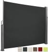 Brubaker Seitenmarkise Maui für Balkon und Terrasse - Ausziehbar - Aluminium - grau - 300 x 180 cm - 1
