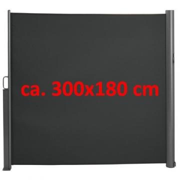 Brubaker Seitenmarkise Maui für Balkon und Terrasse - Ausziehbar - Aluminium - grau - 300 x 180 cm - 6