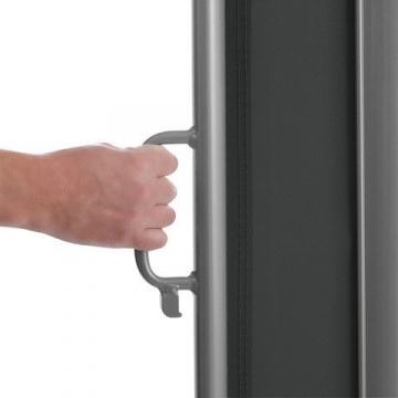 Brubaker Seitenmarkise Maui für Balkon und Terrasse - Ausziehbar - Aluminium - grau - 300 x 180 cm - 8