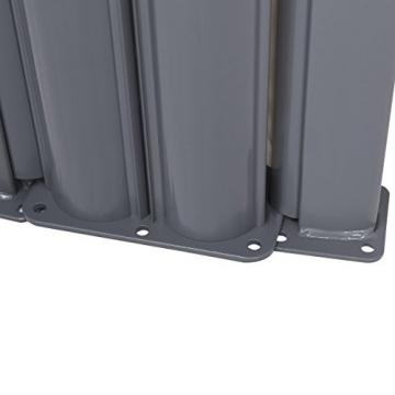 COSTWAY Doppelseitenmarkise ausziehbar, Seitenmarkise Markise Seitenwandmarkise Sichtschutz Sonnenschutz Windschutz für Garten, Veranda und Terrasse (160x600cm, Grau) - 2