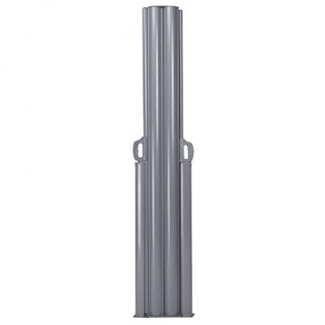 COSTWAY Doppelseitenmarkise ausziehbar, Seitenmarkise Markise Seitenwandmarkise Sichtschutz Sonnenschutz Windschutz für Garten, Veranda und Terrasse (160x600cm, Grau) - 8