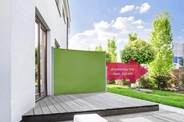 empasa Seitenmarkise Start Sichtschutz Sonnenschutz, Höhe 160 oder 180 cm, Länge bis max. 450 cm. - 1