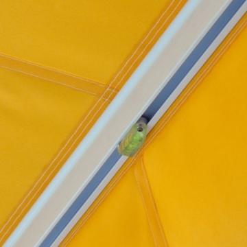 Jarolift Markise mit Volant - Gelenkarm Markisen f. Balkon / 250 x 150 cm/gelb/orange (2,50 x 1,50 m) - 3