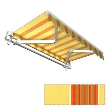 Jarolift Markise mit Volant - Gelenkarm Markisen f. Balkon / 250 x 150 cm/gelb/orange (2,50 x 1,50 m) - 7