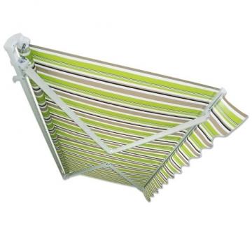Jawoll Gelenkarm-Markise 4 x 2,5 m grün-braun (Profilfarbe: Weiß) Sonnenschutz Alu Markise Schattenspender Sonnensegel - 2