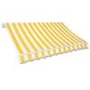 Jawoll Gelenkarm-Markise 5,0 x 3,0 m Gelb-Weiß (Profilfarbe: Weiß) Sonnenschutz Alu Markise Schattenspender Sonnensegel - 1