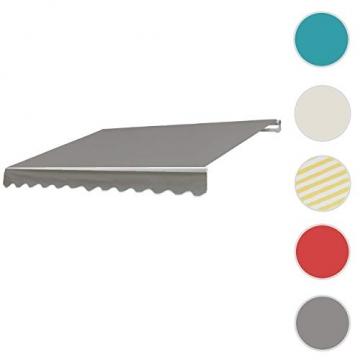 Mendler Alu-Markise T792, Gelenkarmmarkise Sonnenschutz 5x3m ~ Polyester, grau-braun - 3