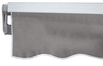 Mendler Alu-Markise T792, Gelenkarmmarkise Sonnenschutz 5x3m ~ Polyester, grau-braun - 4