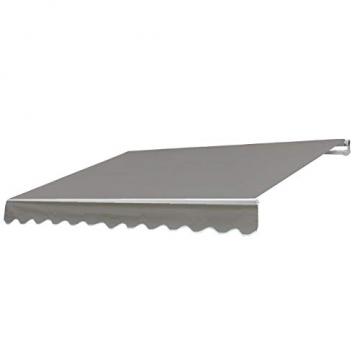 Mendler Alu-Markise T792, Gelenkarmmarkise Sonnenschutz 5x3m ~ Polyester, grau-braun - 1