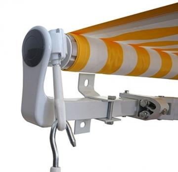Mendler Alu-Markise T792, Gelenkarmmarkise Sonnenschutz 5x3m ~ Polyester, grau-braun - 5