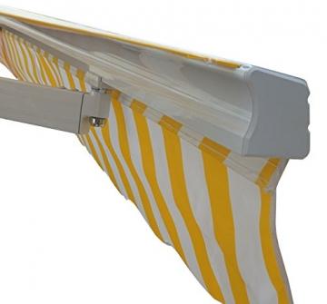 Mendler Alu-Markise T792, Gelenkarmmarkise Sonnenschutz 5x3m ~ Polyester, grau-braun - 6