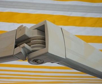 Mendler Alu-Markise T792, Gelenkarmmarkise Sonnenschutz 5x3m ~ Polyester, grau-braun - 7