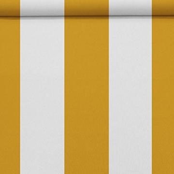 Nemaxx FCA35X Vollkassettenmarkise 3,5m x 2,5m gelb-weiß: Kassettenmarkise für optimale Beschattung aus UV-beständigem und wetterfestem Acryltuch in Grauer Kassette - nach DIN EN 13565 - 4