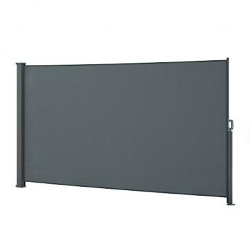 OSKAR Seitenmarkise Sichtschutz Sonnenschutz Seitenrollo Markise Anthrazit (180x350cm) - 1