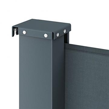 OSKAR Seitenmarkise Sichtschutz Sonnenschutz Seitenrollo Markise Anthrazit (180x350cm) - 5