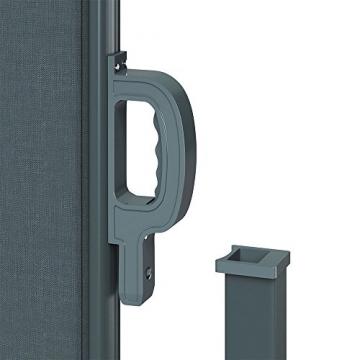 OSKAR Seitenmarkise Sichtschutz Sonnenschutz Seitenrollo Markise Anthrazit (180x350cm) - 6
