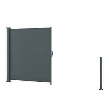 OSKAR Seitenmarkise Sichtschutz Sonnenschutz Seitenrollo Markise Anthrazit (180x350cm) - 7