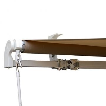 Outsunny Gelenkarmmarkise Sonnenschutz Balkon Creme 2,95x2,5m Markise - 8