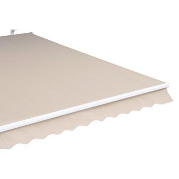 Outsunny Gelenkarmmarkise Sonnenschutz Balkon Creme 2,95x2,5m Markise - 9