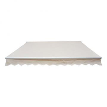 Outsunny Markise Alu-Markise Aluminium-Gelenkarm-Markise creme 400 x 300 x 160 cm - 2