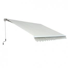 Outsunny Markise Alu-Markise Aluminium-Gelenkarm-Markise creme 400 x 300 x 160 cm - 1