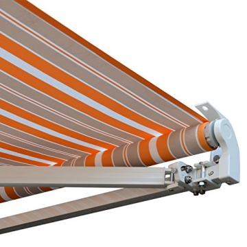 Outsunny Markise Alu-Markise Aluminium-Gelenkarm-Markise Sonnenschutz - 6