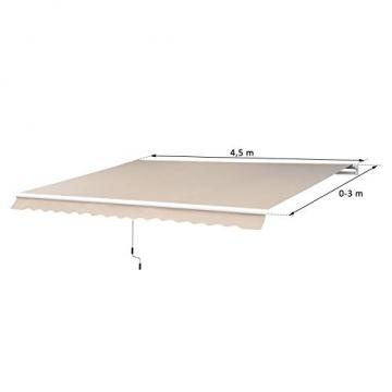 Outsunny Markise Alu-Markise Sonnenschutz Aluminium-Gelenkarm-Markise 450 x 300cm - 5