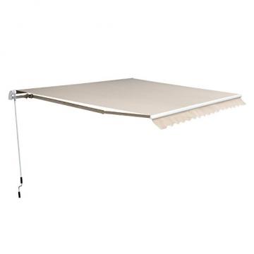 Outsunny Markise Gelenkarmmarkise Sonnenschutz 3,5x2,5m mit Handkurbel Alu+Polyester - 1