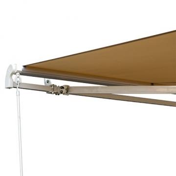 Outsunny Markise Gelenkarmmarkise Sonnenschutz 3,5x2,5m mit Handkurbel Alu+Polyester - 6