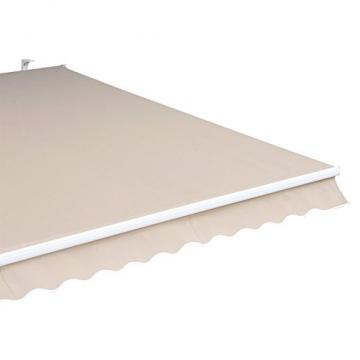 Outsunny Markise Gelenkarmmarkise Sonnenschutz 3,5x2,5m mit Handkurbel Alu+Polyester - 7