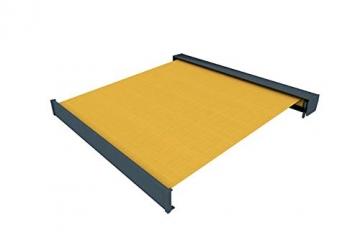 paramondo Kassettenmarkise Line, 3,5 x 3 m, Gestell: anthrazit, Stoff: Uni, gelb - 4