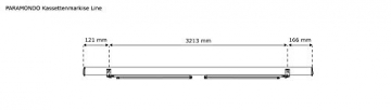 paramondo Kassettenmarkise Line, 3,5 x 3 m, Gestell: anthrazit, Stoff: Uni, gelb - 6