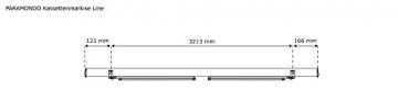 paramondo Kassettenmarkise Line, 3,5 x 3 m, Gestell: anthrazit, Stoff: Uni, Hellbeige - 6