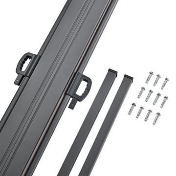 [pro.tec] Doppelte Seitenmarkise 2 x 160 x 300 cm Sandfarben Beige Sichtschutz Markise Sonnen- & Windschutz - 5