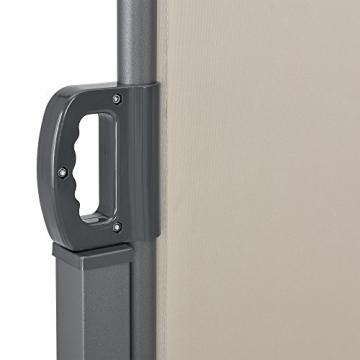 [pro.tec] Doppelte Seitenmarkise 2 x 160 x 300 cm Sandfarben Beige Sichtschutz Markise Sonnen- & Windschutz - 6