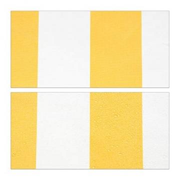 Relaxdays Klemmmarkise, Balkon Sonnenschutz, einziehbar, Fallarm, ohne Bohren, höhenverstellbar, 300 cm breit, gelb gestreift - 7