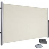 SONGMICS 200 x 350 cm (H x L), Seitenmarkise für Balkon und Terrasse, Sichtschutz, Sonnenschutz, Seitenrollo, Beige GSA205E - 1