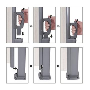SONGMICS 200 x 350 cm (H x L), Seitenmarkise für Balkon und Terrasse, Sichtschutz, Sonnenschutz, Seitenrollo, Beige GSA205E - 6