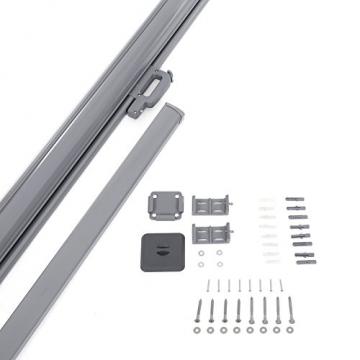 SONGMICS Seitenmarkise 200 x 350 cm (H x L) für Balkon und Terrasse, Sichtschutz, Sonnenschutz, Seitenrollo GSA205G - 7