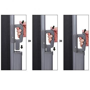 SONGMICS Seitenmarkise 200 x 350 cm (H x L) für Balkon und Terrasse, Sichtschutz, Sonnenschutz, Seitenrollo GSA205G - 8
