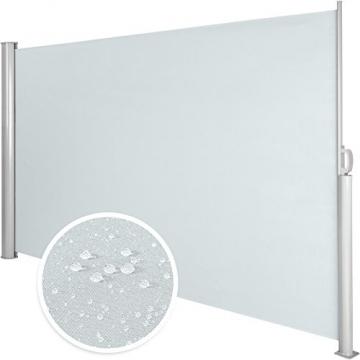 TecTake Seitenmarkise Sonnenschutz Sichtschutz Windschutz | Gehäuse und Standpfosten komplett aus Aluminium | - Diverse Farben und Größen - (Grau | 200x300cm | Nr. 401530) - 5