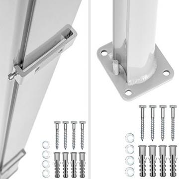 TecTake Seitenmarkise Sonnenschutz Sichtschutz Windschutz | Gehäuse und Standpfosten komplett aus Aluminium | - Diverse Farben und Größen - (Grau | 200x300cm | Nr. 401530) - 6