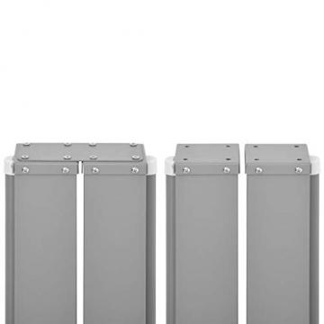 Tidyard Ausziehbarer auf 1000 cm Doppelseitiger Sichtschutz Markise,Automatischen Rückrollfunktion,Doppelseitenmarkise Garten-Seitenmarkise Seitenrollo Seitenwand Mit Montagezubehör,2 Pfosten - 9