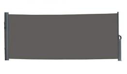 vanvilla Seitenmarkise Sichtschutz Sonnenschutz Windschutz Markise Seitenwand Anthrazit 120x300 cm - 1